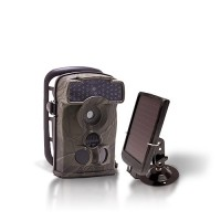 Dernière génération - Caméra de chasse autonome HD 720P IR invisible avec batterie solaire