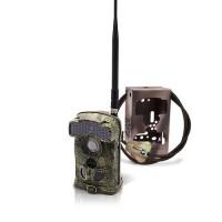 Caméra de chasse alerte HD 1080P 3G envoi MMS / e-mail vidéo IR invisible avec box anti-vandale