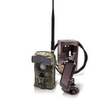 Caméra de chasse alerte HD 1080P 3G envoi MMS / e-mail vidéo IR invisible avec batterie solaire et box anti-vandale