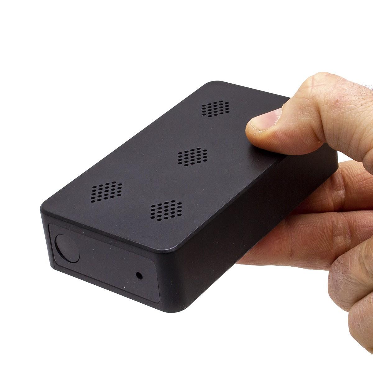 Micro caméra HD 1080P avec détection de mouvement PIR longue autonomie dans une boite noire