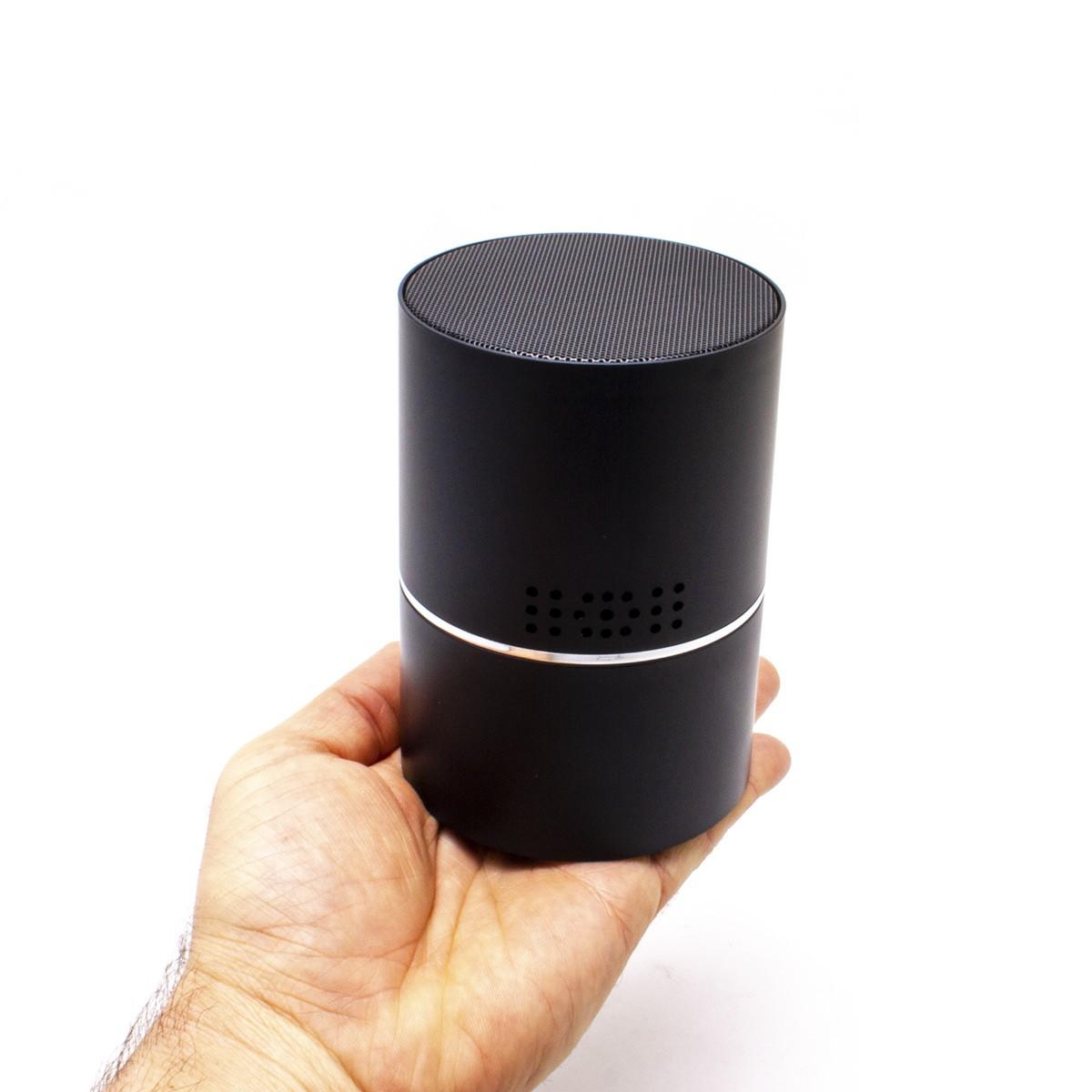 Enceinte bluetooth micro caméra IP WiFi HD pilotable à 330° avec vision nocturne microSD 128 Go incluse
