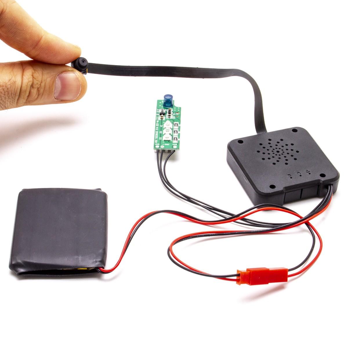 Module micro caméra IP Wi-Fi HD avec vision nocturne et enregistreur à intégrer, microSD 128 Go incluse