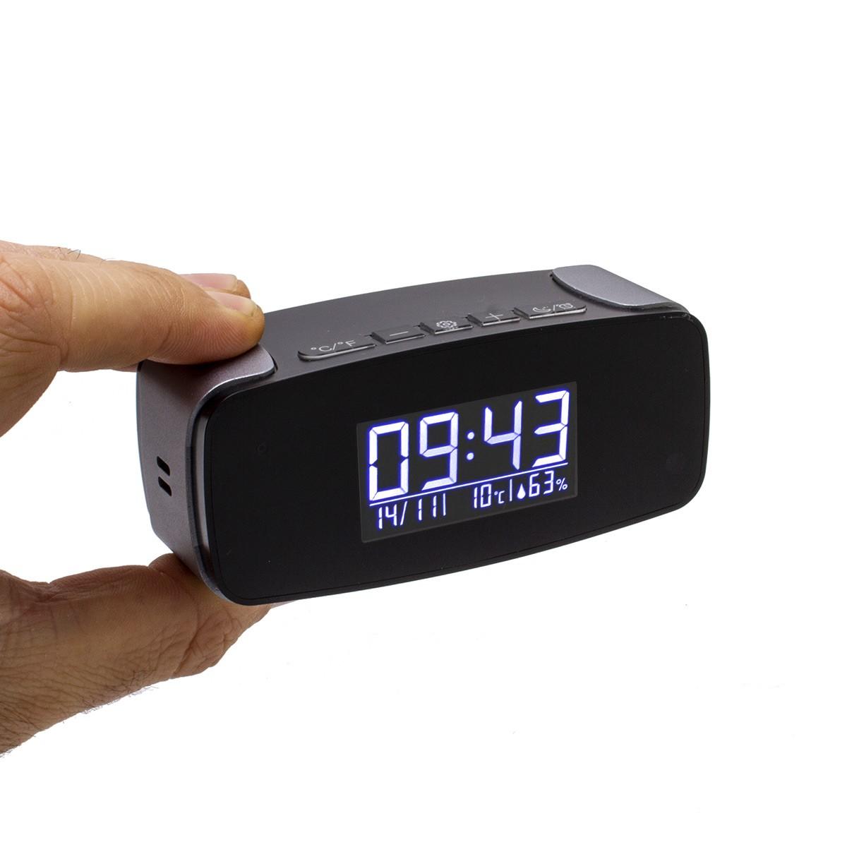 Horloge réveil alarme micro caméra IP Wi-Fi HD avec vision nocturne
