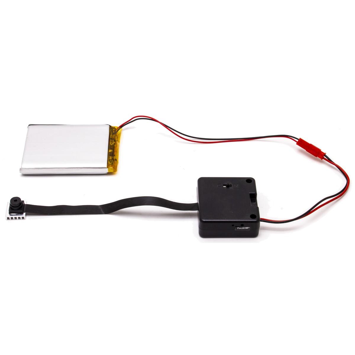 Module micro caméra HD 1080P autonome à intégrer avec enregistrement à la détection ou continu sur MicroSD 64 Go