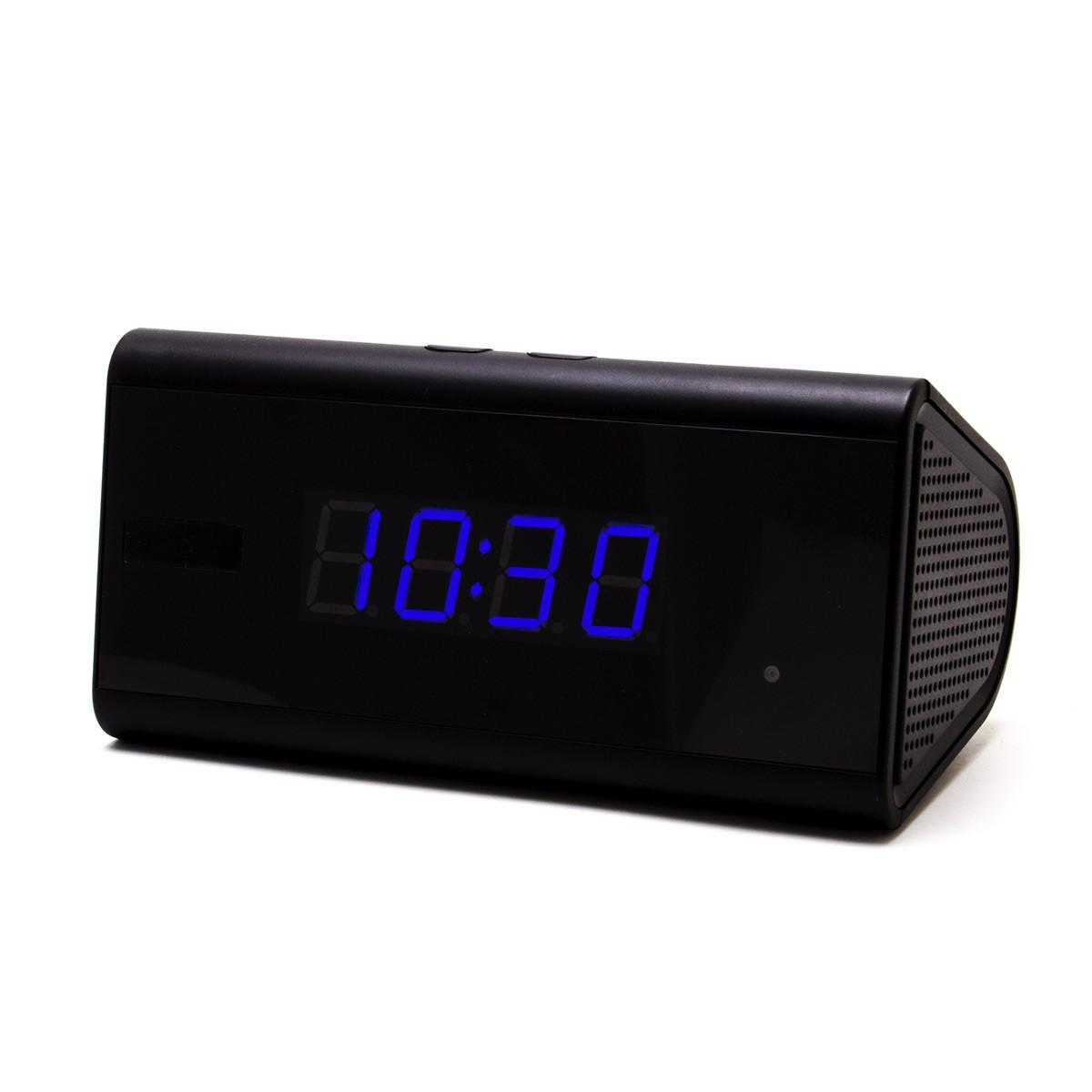 Horloge de bureau caméra WiFi P2P HD 1080P longue autonomie avec IR invisible détecteur de mouvement et enregistreur sur carte microSD 128 Go