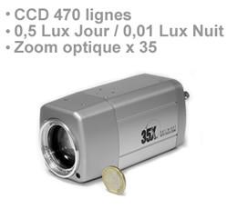 Camera CCD couleur jour-nuit 470 lignes avec zoom optique X35 et autofocus
