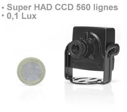 Micro camera couleur CCD super HAD 560 lignes et micro objectif