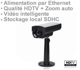 Caméra IP AXIS HDTV avec stockage local SDHC