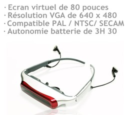 Lunette écran audio video portable 1