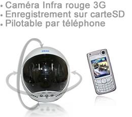 Caméra autonome 3G infra-rouge pilotable par téléphone 1
