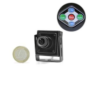 Micro caméra CCD 480 lignes avec menu de paramétrage OSD et mini objectif