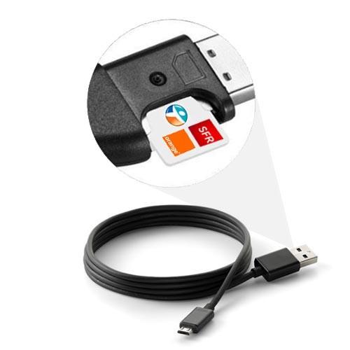 Balise GPS dans un câble USB pour android