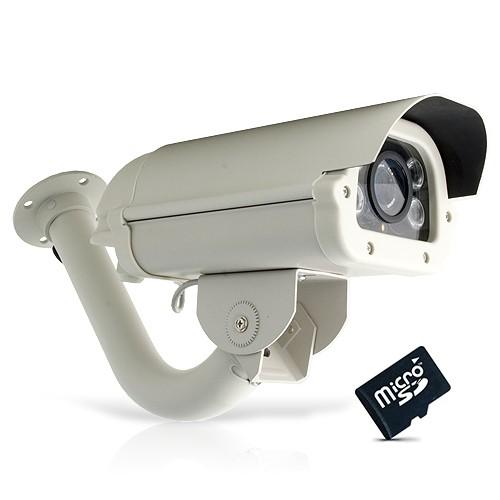 Caméra extérieure 420 lignes vision nocturne avec détection de mouvement et carte SDHC