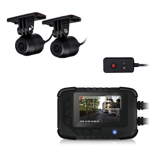 Enregistreur de conduite auto moto avec double caméra HD 1080P filaire waterproof