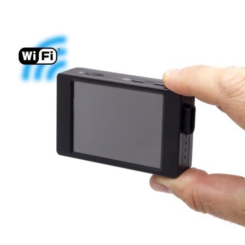 Micro enregistreur professionnel HD 1080P avec écran tactile et connexion Wi-Fi sur smartphone iOS & Android