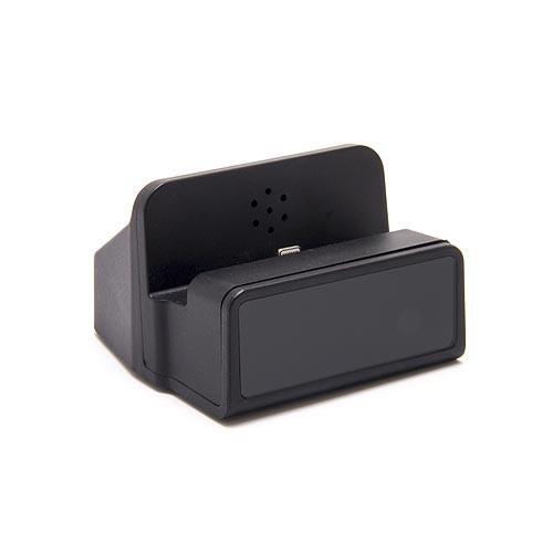 Dock de recharge fonctionnelle pour smartphone Android avec module caméra HD 1080P et enregistreur sur carte micro SDHC 64Go incluse