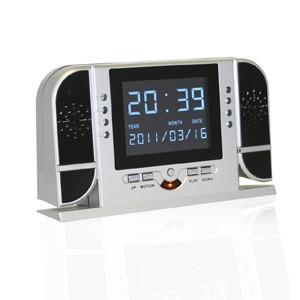 Horloge numérique 4 de bureau avec caméra audio vidéo HD 720P discrète capteur infrarouge et autonome