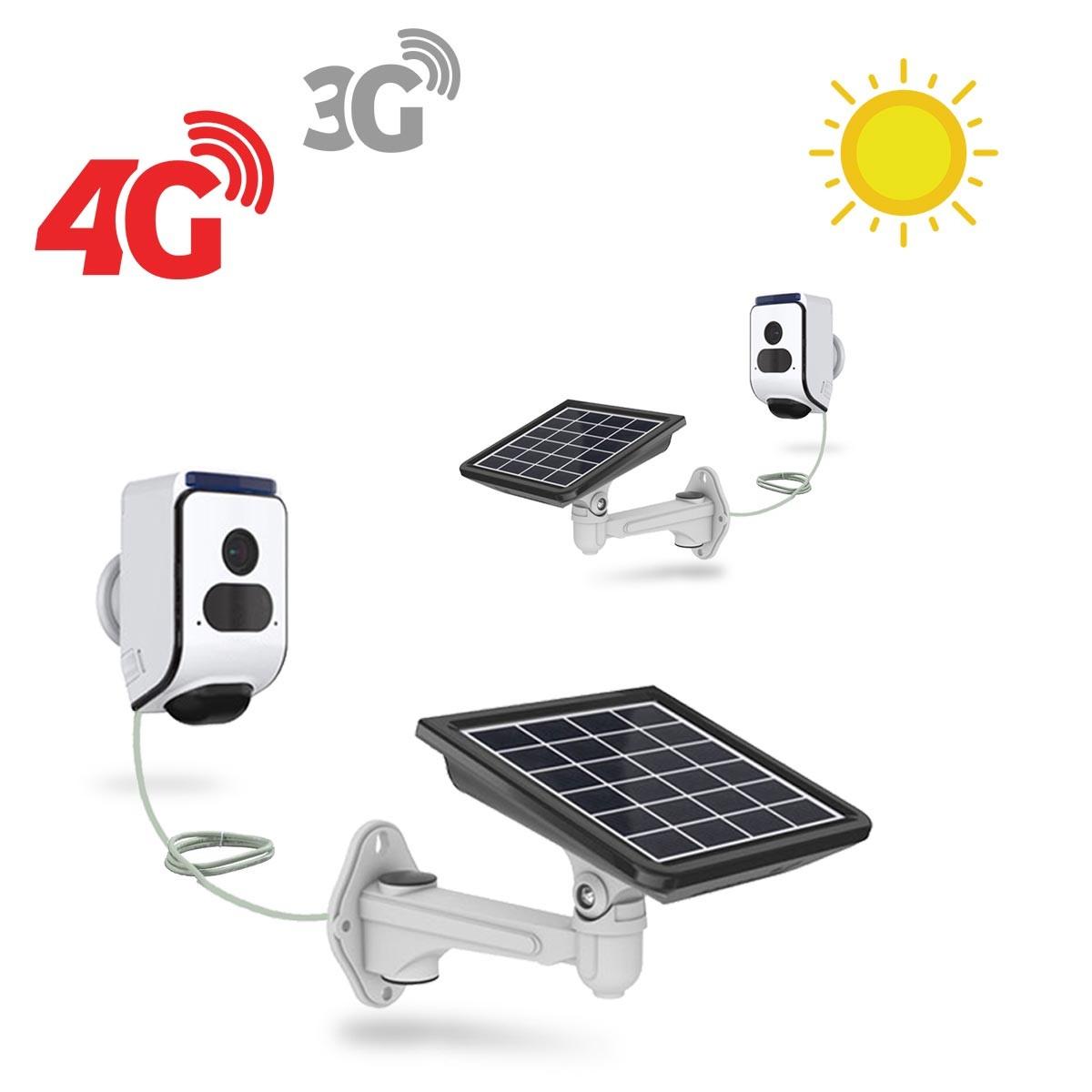 Kit 2 caméras solaires 3G 4G IP Wi-Fi extérieures HD 720P