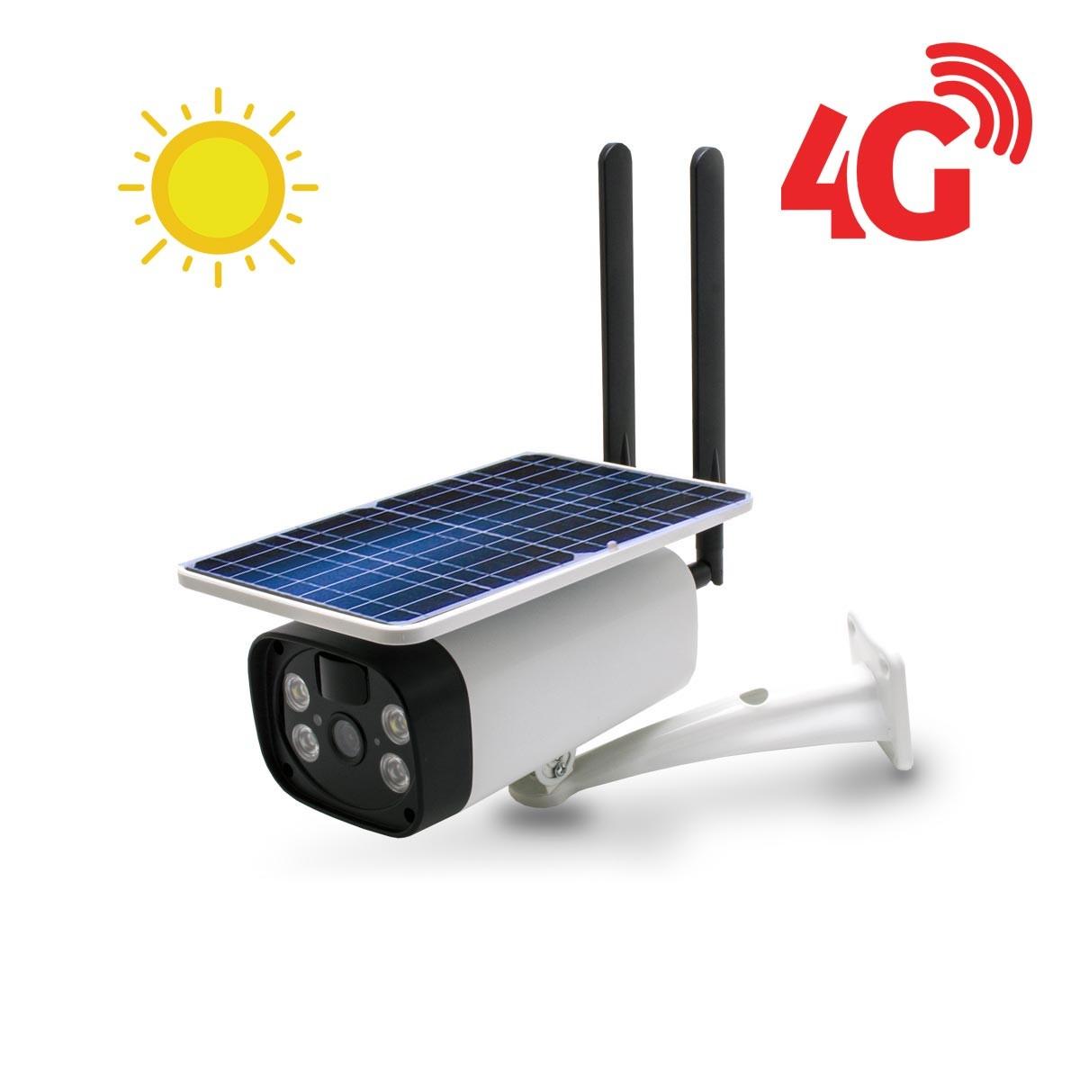 Caméra solaire IP GSM 4G HD 1080P 64 Go inclus waterproof Infrarouge accès à distance via iPhone Android