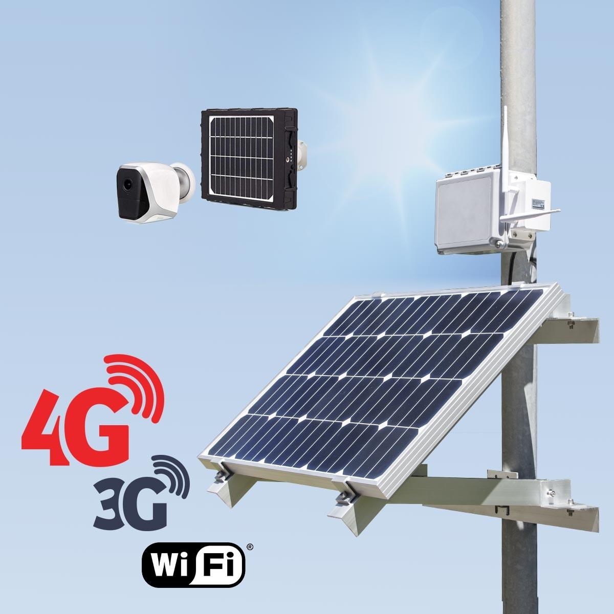 Kit vidéosurveillance 3G 4G autonome solaire avec une smart caméra solaire WiFi HD 1080P