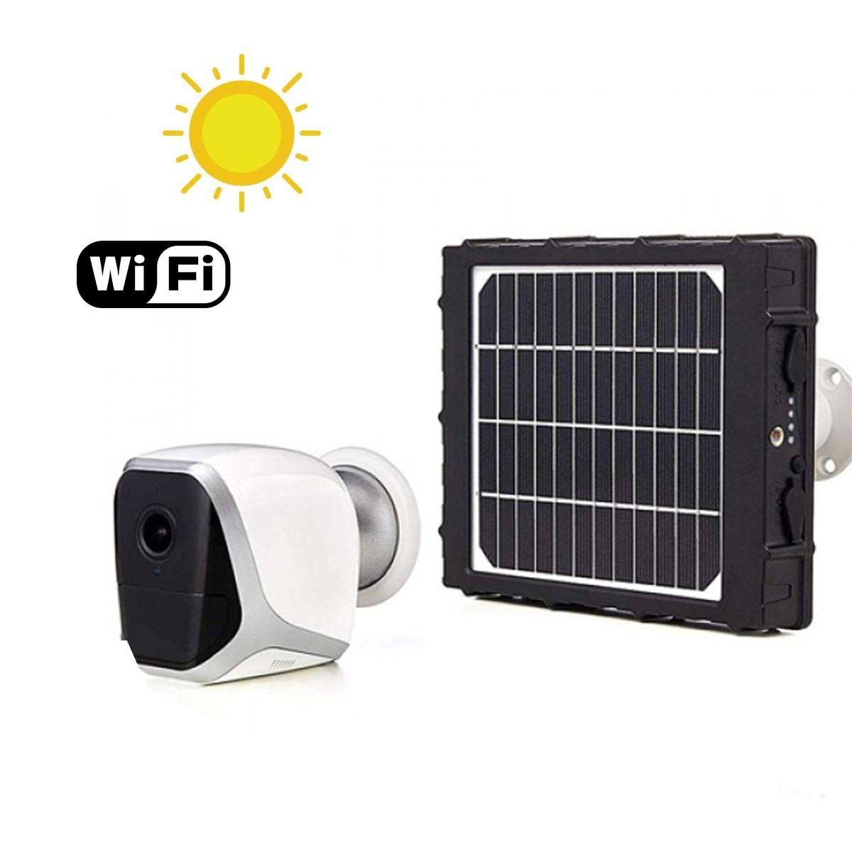 Smart caméra solaire autonome WiFi HD 1080P