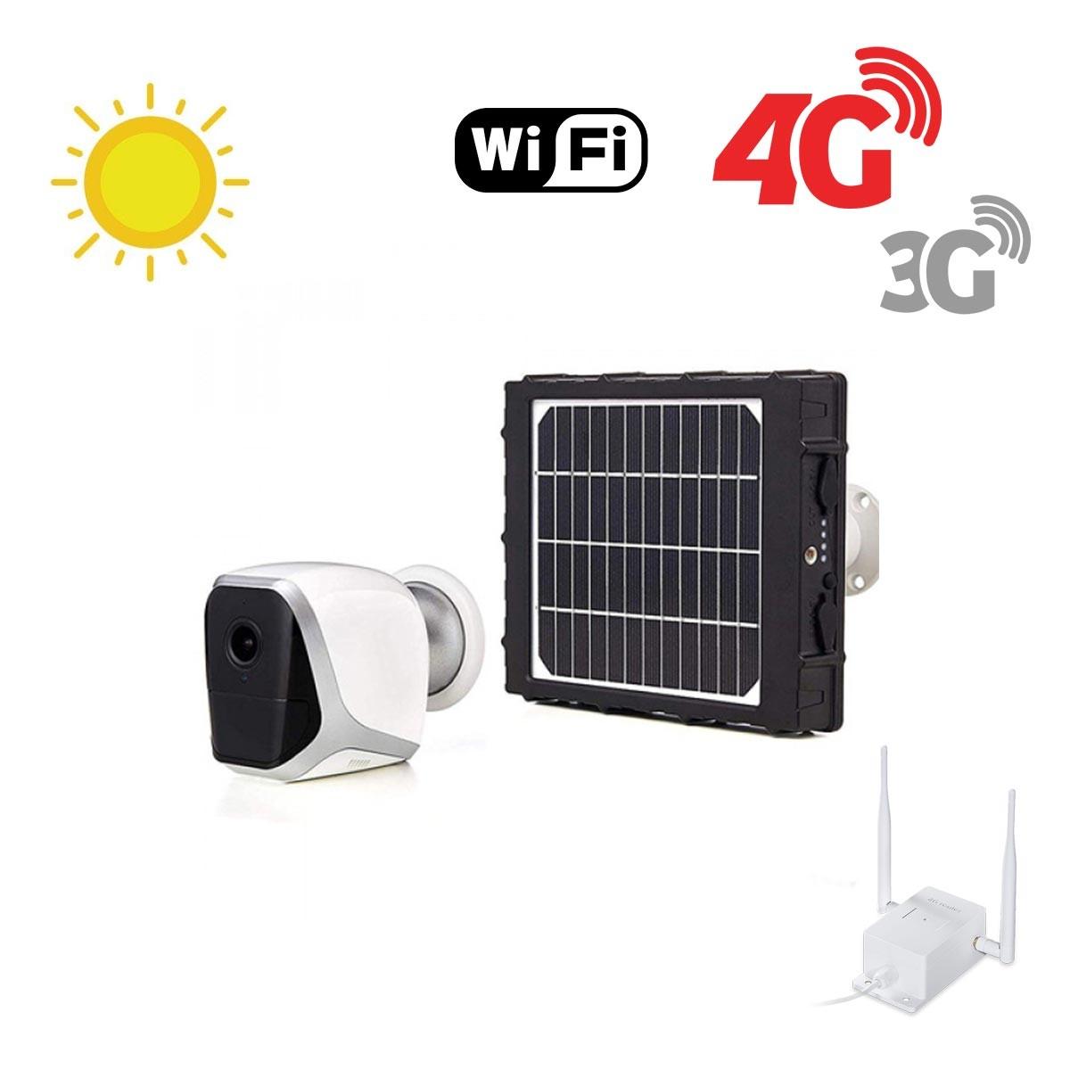 Kit de 1 smart caméra solaire Wifi HD 1080P avec routeur GSM 3G 4G WiFi