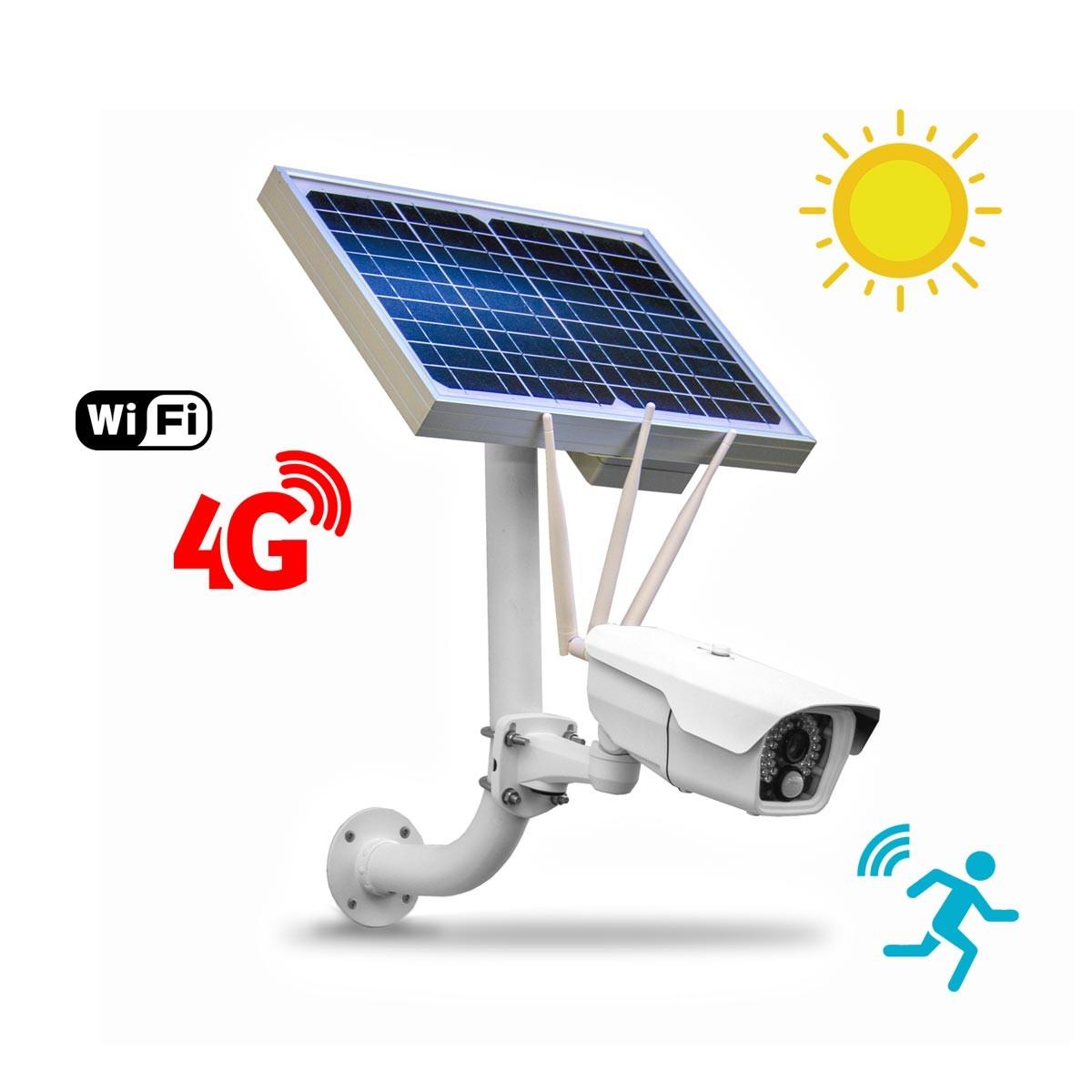 Caméra autonome solaire connexion 4G WiFi