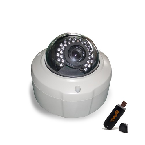 Kit 3G Caméra IP dome HD 2 MP