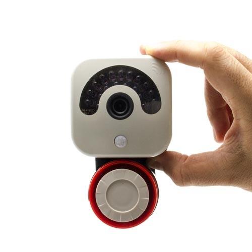Caméra IP WiFi HD 720P avec sirène d'alerte sonore, détecteur PIR vision nocturne 32Go
