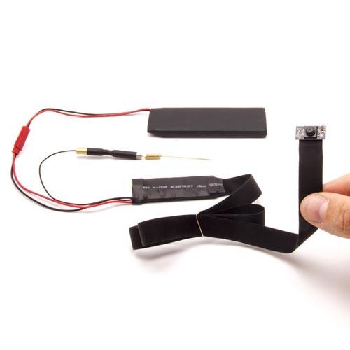 Micro Caméra et enregistreur WiFi HD 1080P 18 Mégapixels à intégrer, avec carte 32Go