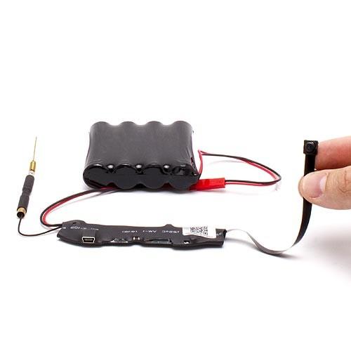 Micro caméra WiFi direct HD 720P à intégrer avec carte 32Go Longue autonomie