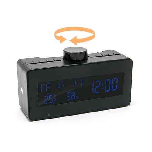 Radio horloge Station météo caméra cachée IP WiFI pilotable HD 1080P avec 64Go