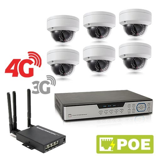Kit de vidéosurveillance 3G 4G intérieur/extérieur