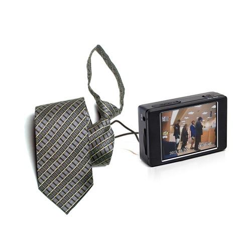 Kit micro enregistreur audio video portable avec caméra cravate