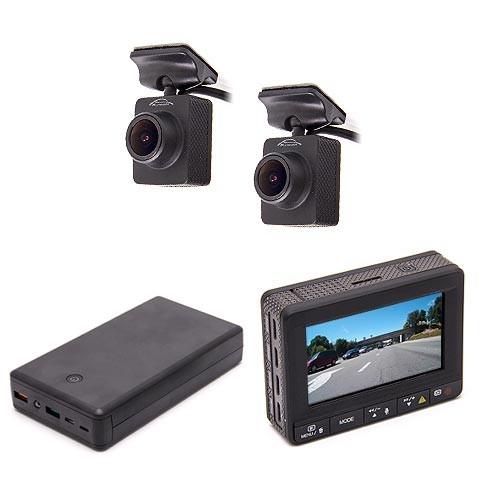 Kit vidéosurveillance anti vandalisme véhicule avec 2 caméra HD longue autonomie et détection de mouvement