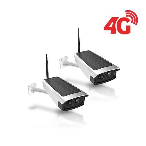 Kit 2 caméras solaires 3G 4G IP / WiFi extérieures HD 1080P 32Go