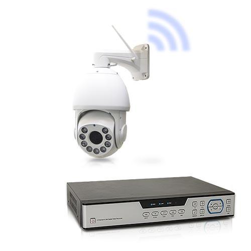 Kit caméra HD PTZ WiFi 18X avec enregistreur de vidéosurveillance