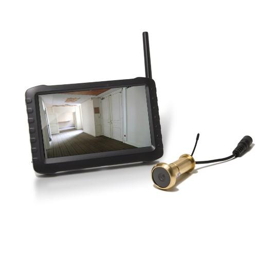 """Kit caméra judas sans fil avec récepteur LCD couleur 5"""""""