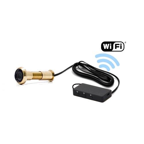 Caméra judas WiFi avec accès à distance enregistrement à la détection de mouvement sur carte microSD 32 Go