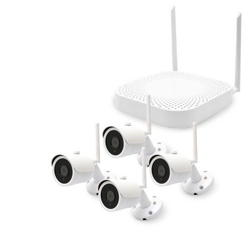 Kit de vidéosurveillance enregistreur réseau et 4 caméras HD 1080P