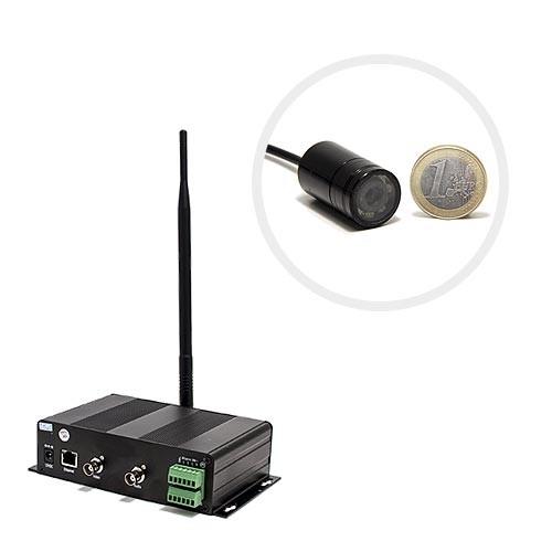 Kit Serveur vidéosurveillance mobile 3G GSM avec une micro caméra infrarouge invisible