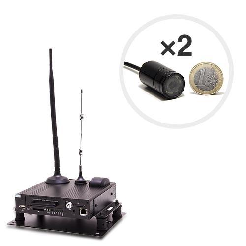 Kit Serveur vidéosurveillance mobile 3G WiFi GPS avec 2 micros caméras infrarouge invisible