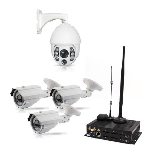 Kit Serveur vidéosurveillance WiFi 3G GPS 4 voies