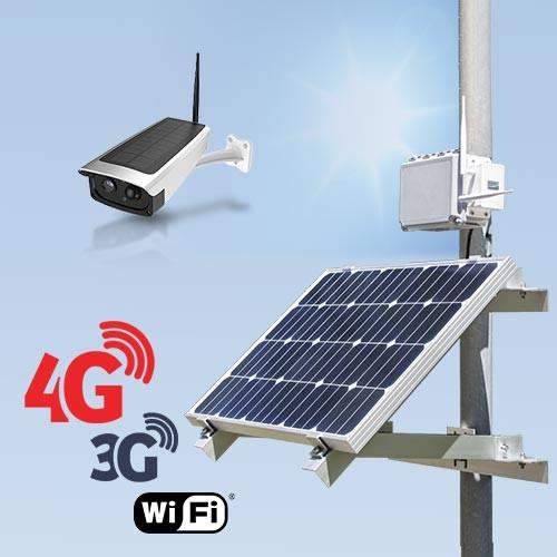 Kit vidéosurveillance 3G 4G autonome solaire avec une caméra solaire Wi-Fi HD 1080P