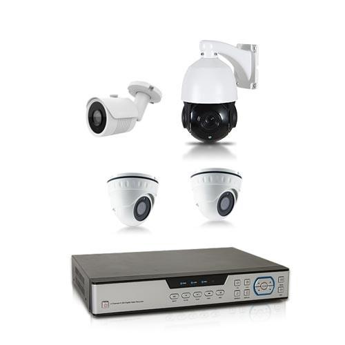 Kit de vidéo surveillance 4 caméras dont une PTZ