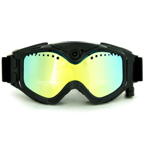 Masque de snowboard caméra sport extrême HD 720P mémoire 16Go noir