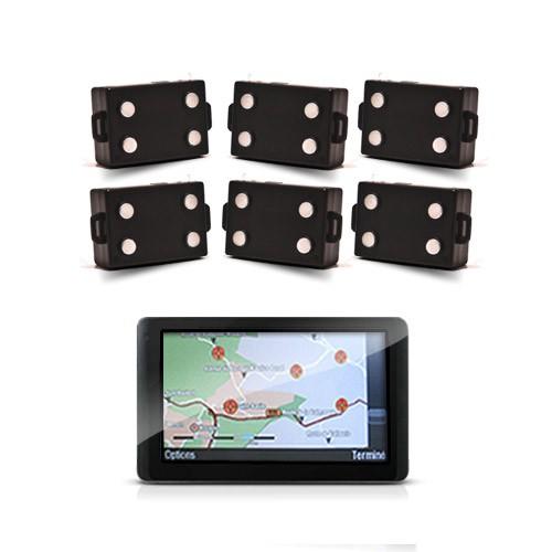 Kit de localisation écran GPS avec 6 balises