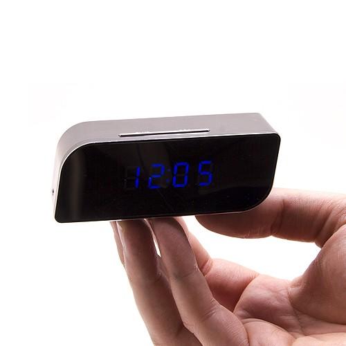 Caméra horloge de bureau 720P WiFi avec vision nocturne et application mobile
