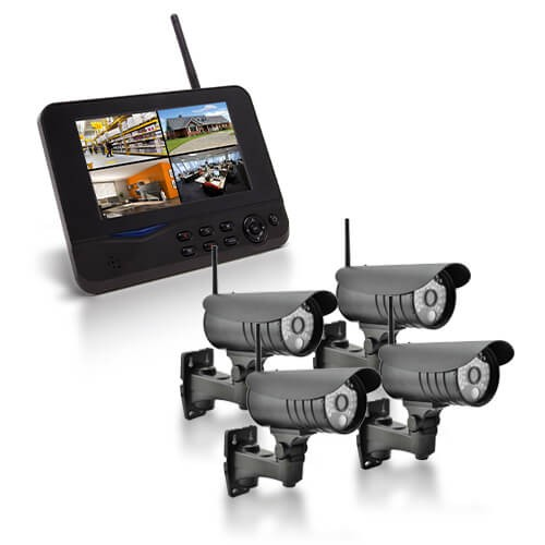 Kit vidéo surveillance sans-fil 4 caméras waterproof avec alerte sur smartphone