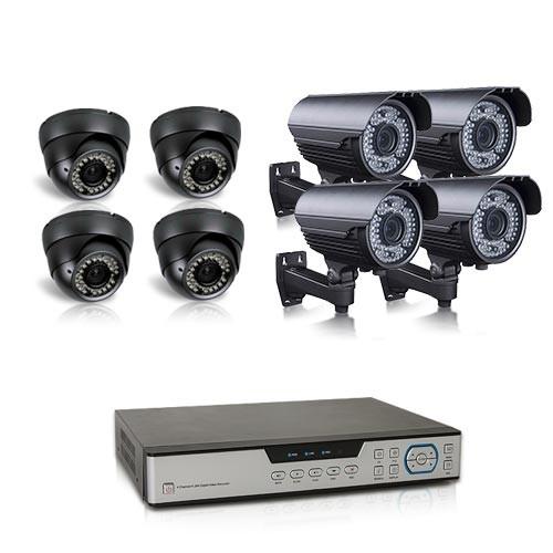 Kit vidéosurveillance 1To 8 caméras AHD 1080P intérieures extérieures